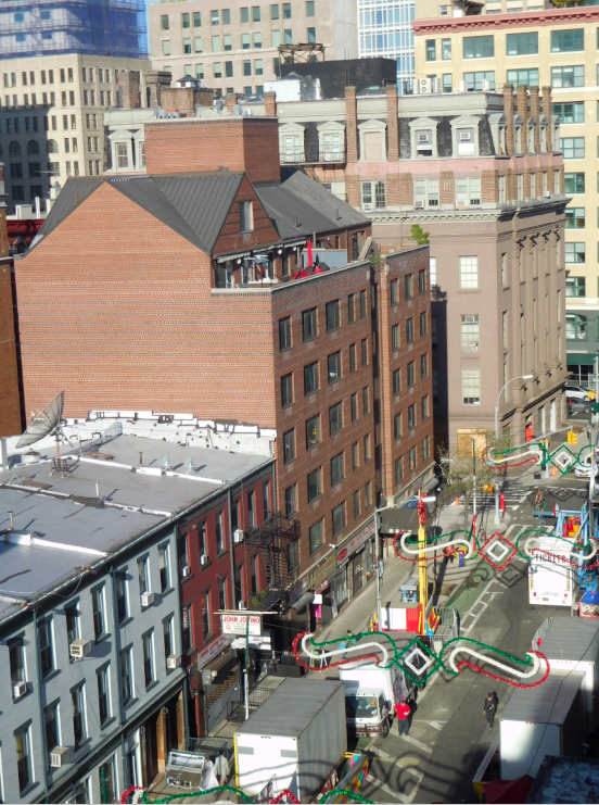 The hotel is located at 196 Grand Street